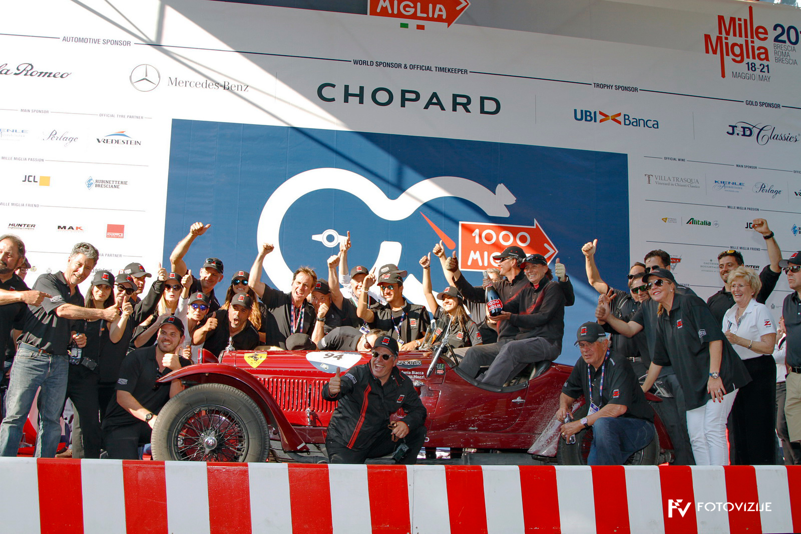 V cilju dirke Mille Miglia 2017