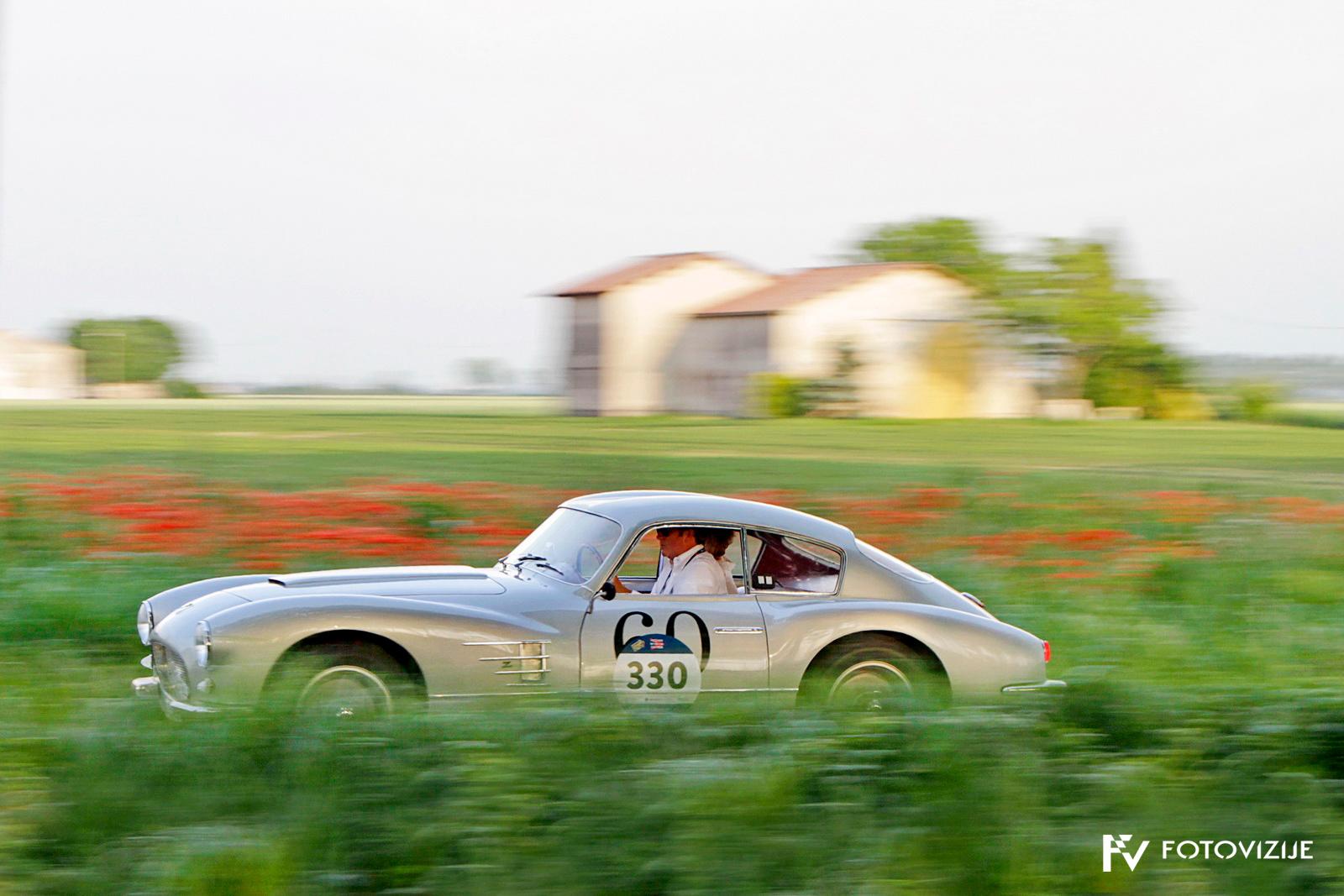 Mille Miglia 2018: Fiat 8V, 1954, na poti proti Mantovi