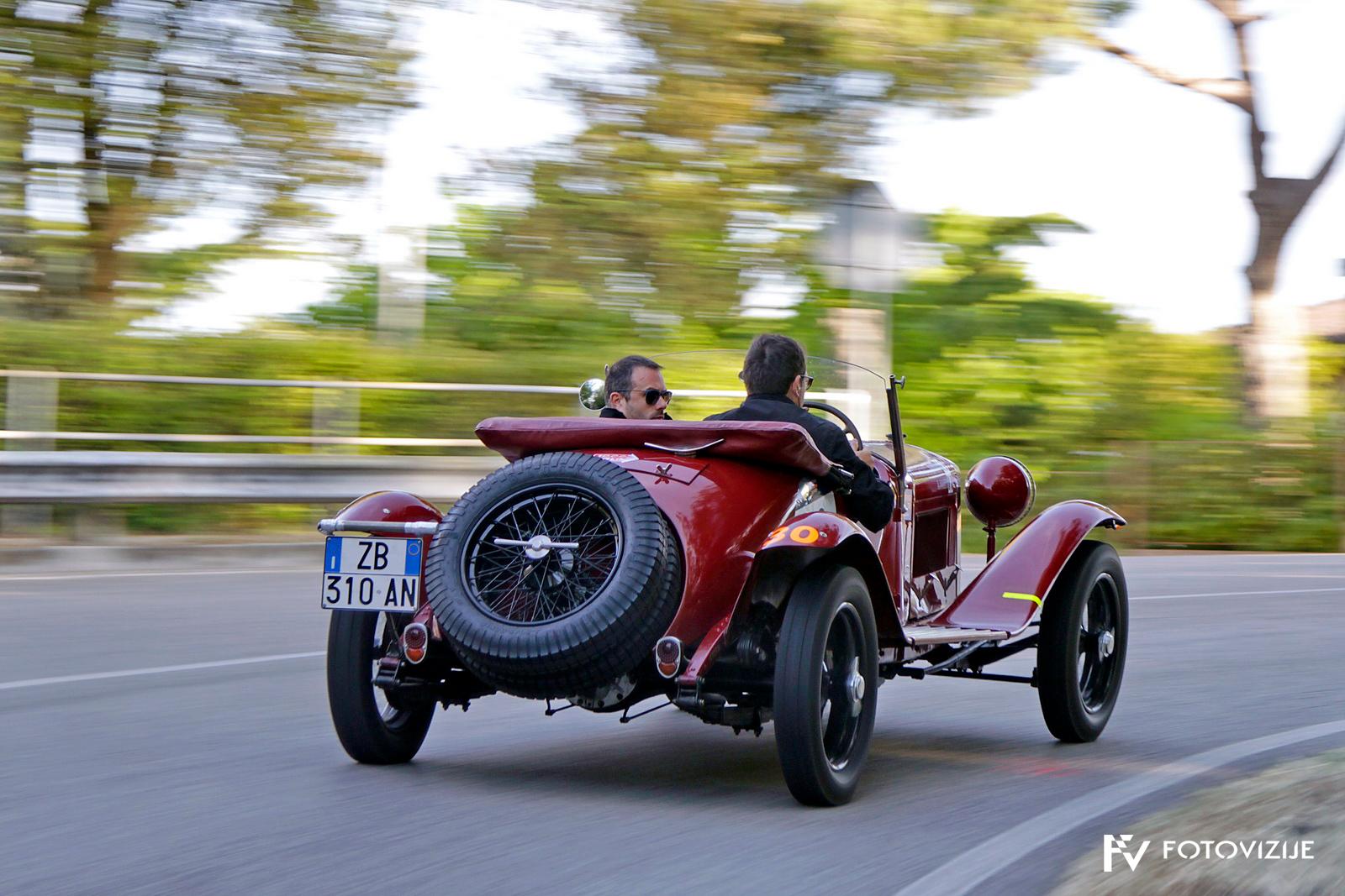 Mille Miglia 2018: 90 let star alfa romeo 6C 1500 Super sport, na koncu tretje uvrščeni.