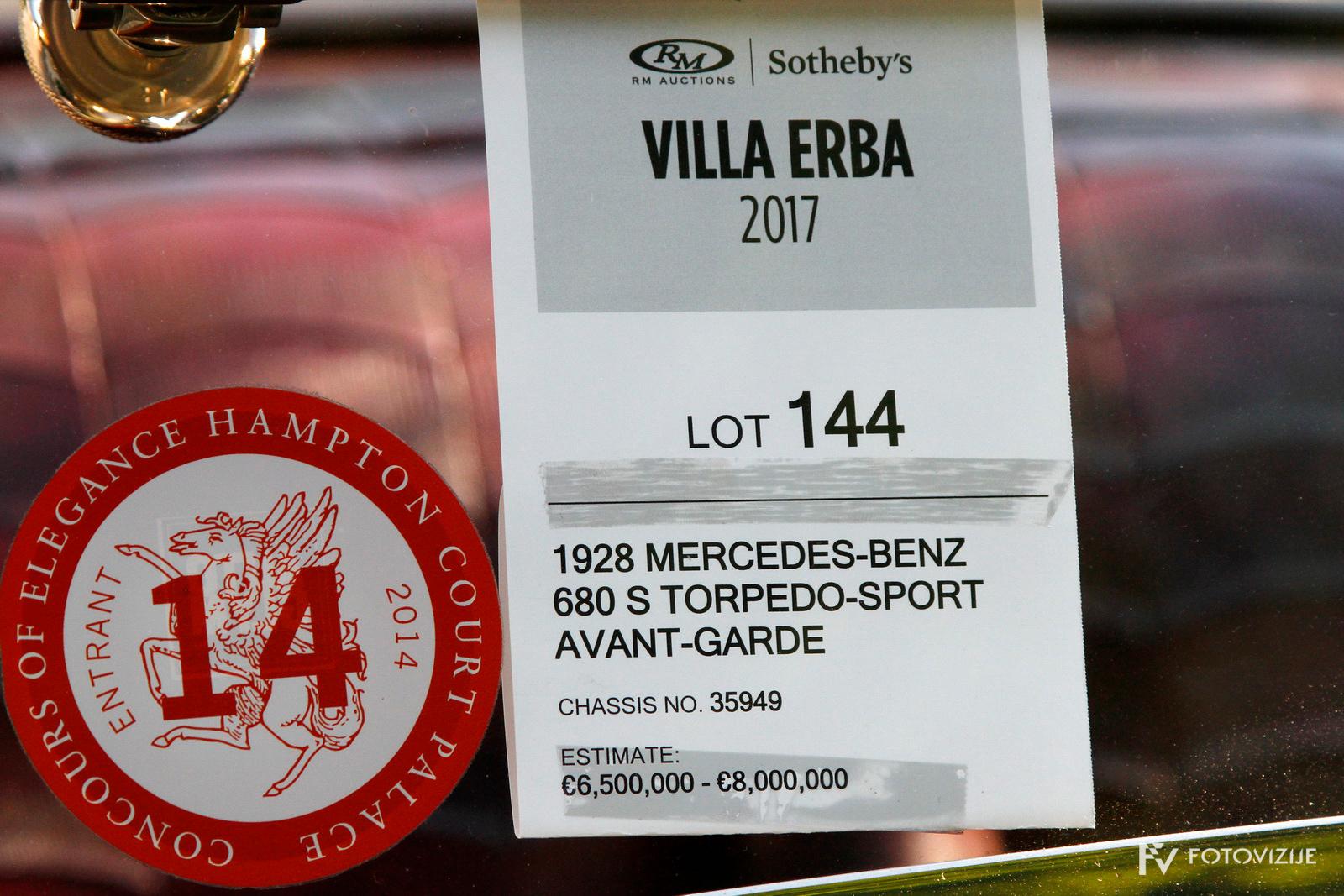 Dražba prestižnih starodobnikov RM Sotheby's auction Villa Erba 2017
