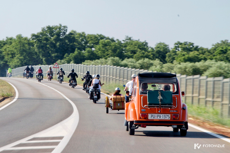 FIVA world moto rally 2019, prvi dan - hrvaška Istra