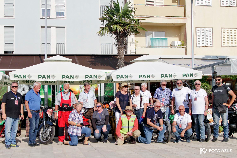 FIVA world moto rally 2019, prvi dan - hrvaška Istra - Umag
