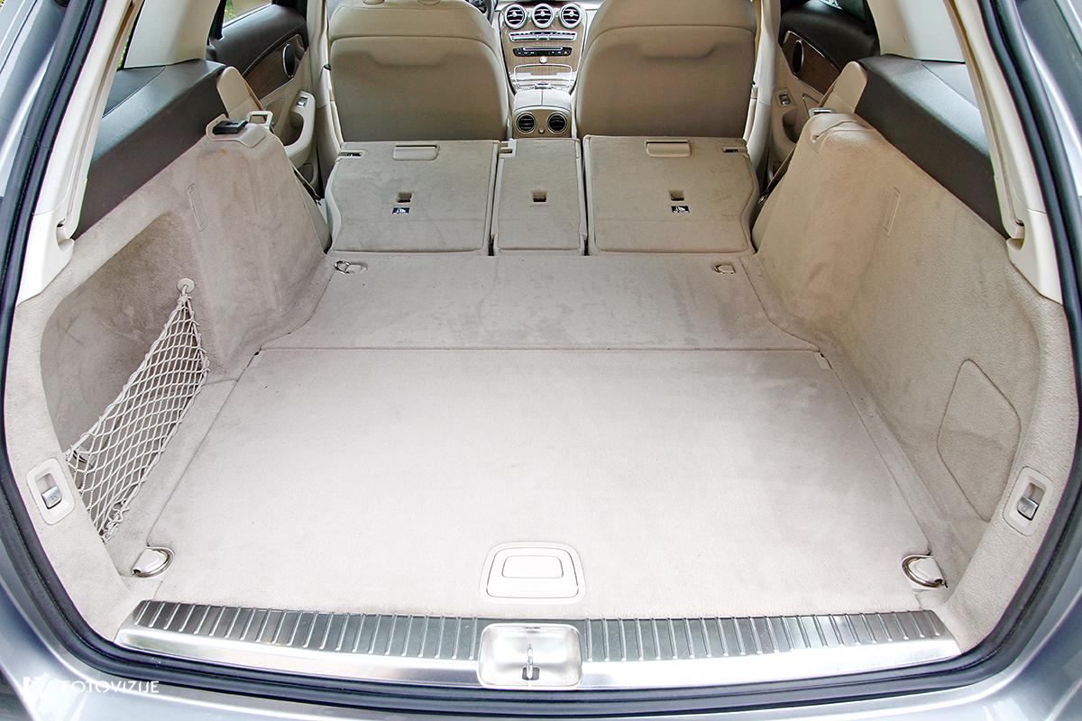 Mercedes-Benz C 220d karavan Avantgarde-Luxury 2016 - prtljažni prostor podiranje naslonov zadnje klopi