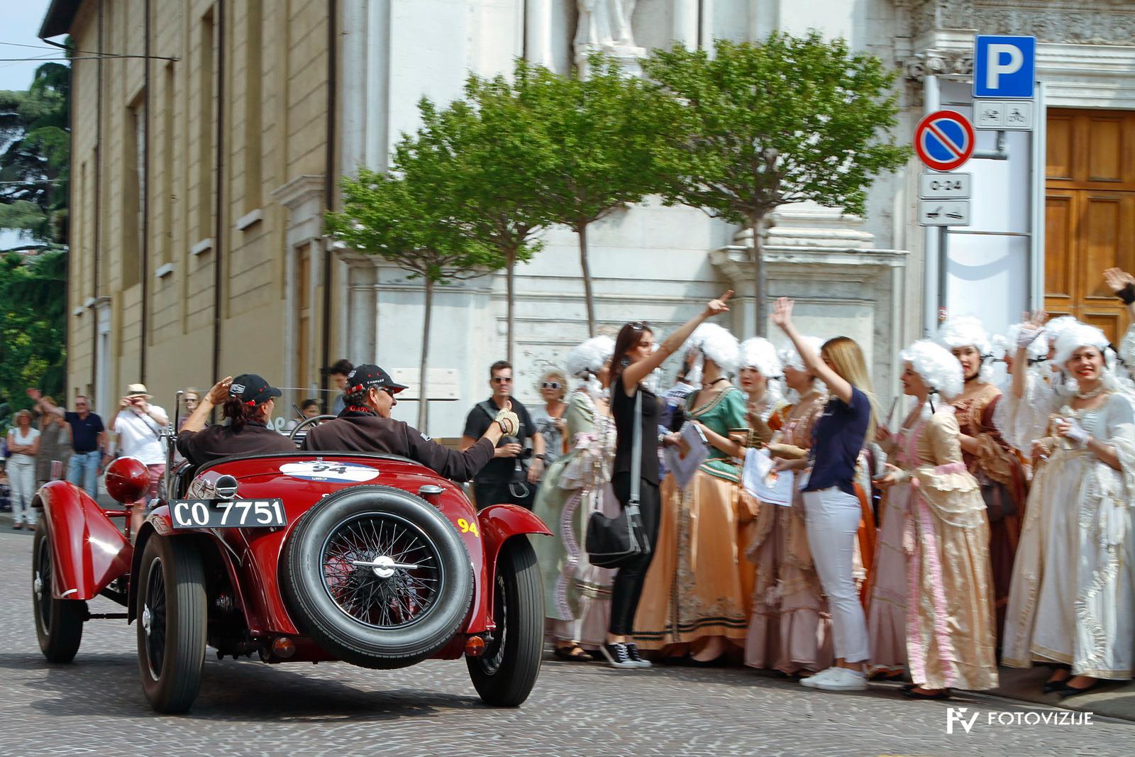 V Brescii so poskrbeli tudi za starinsko vzdušje in udeleženci so bili navdušeni.