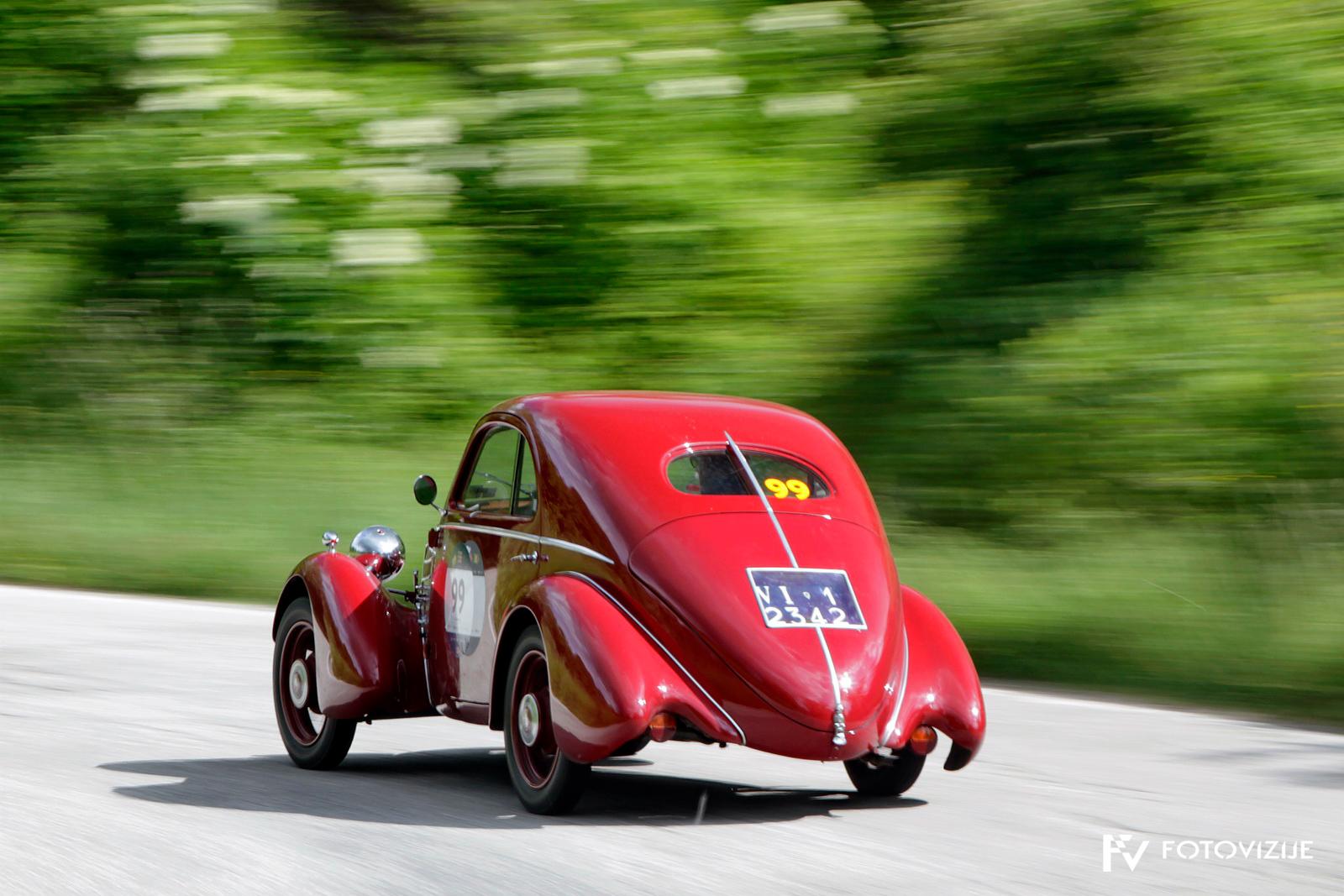 Mille Miglia 2018: Fiat 508 CS MM Berlinetta je vsekakor prikaz razmišljanja o aerodinamiki leta 1935