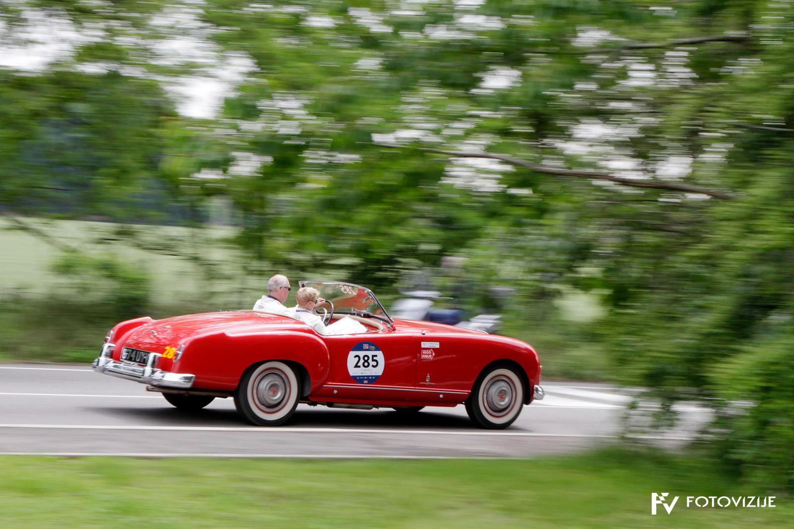 Mille Miglia 2018: Elegantni Nash Healey sports s 4,1-litrskim vrstnim šestvaljnikom