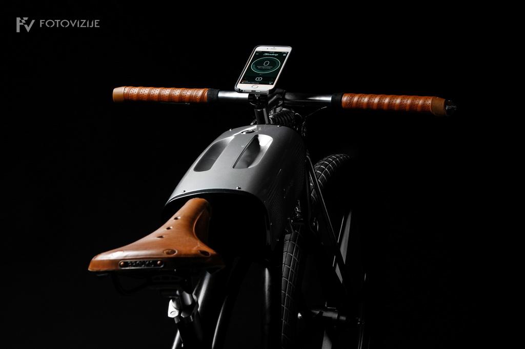 Fotografija detajlov prototipa električnega kolesa Noordung No. 1